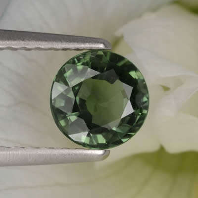 1-Carat, Round, Green Sapphire from Madagascar