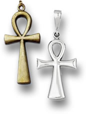 Silver and Gold Ankh Pendants