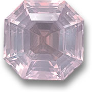 Asscher Cut Rose Quartz