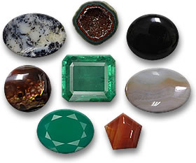 Birthstones for May, Emerald and Agate