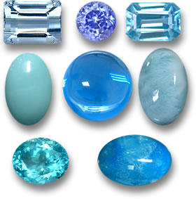 Cool Blue Gemstones