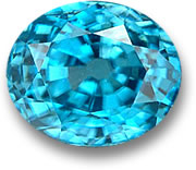 Oval Blue Zircon Gemstone