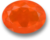 Orange Mexican Fire Opal Gem