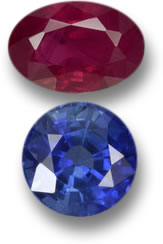 Ruby and Sapphire from Cambodia