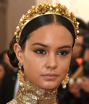 Courtney Eaton's Gold and Pearl Crown