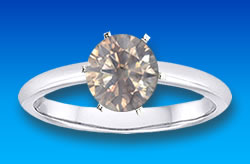 Diamond Solitaire Ring with Prong Setting