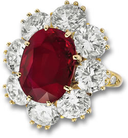 Richard Burton Ruby and Diamond Ring