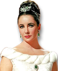 Elizabeth Taylor in an Emerald Suite