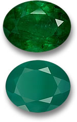 Emerald and Agate Gemstones