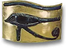 Eye of Horus Lapis Lazuli in Gold