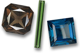 Smoky Quartz, Green Tourmaline and London Blue Topaz