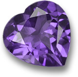 Heart-Shaped Amethyst Gem