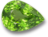 Pear-Shaped Peridot Gem
