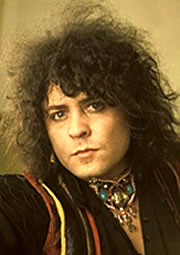 Marc Bolan Wearing an Elaborate Gemstone Necklace