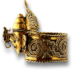 Gold Ring from the Tomb of Aztec Ruler Ahuizotl