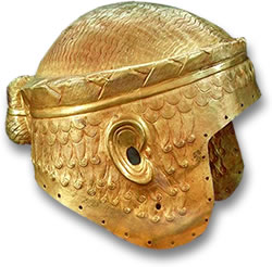 Gold Helmet of Sumerian King Meskalamdug