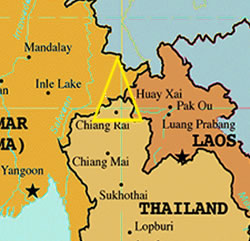 The Golden Triangle Where Laos, Thailand and Myanmar Meet