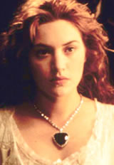 Kate Winslet Wearing the Heart of the Ocean Necklace