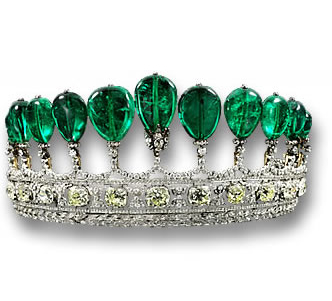 The Princess Katharina Henckel von Donnersmarck Emerald and Diamond Tiara
