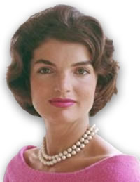 Jackie Kennedy Wearing a Signature Pearl Necklace