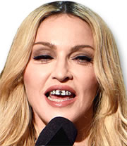 "Madonna Wearing Diamond ""Grillz"""