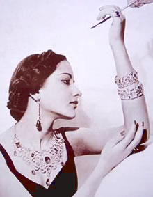 Sita Devi Wearing Fabulous Jewels