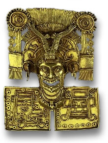 Gold Mesoamerican Breastplate
