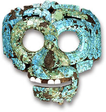 Ancient Mesoamerican Turquoise Mosaic Mask Replica