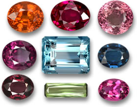 Gems from Mozambique - Garnet, Ruby, Tourmaline and Aquamarine