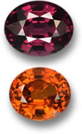 Mozambican Rhodolite and Spessartite