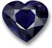 Heart-Shaped Iolite Gem
