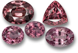 Rose Pink Zircon (top) and Spinel (bottom) Gemstones