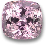 Cushion-Shaped Kunzite Gemstone