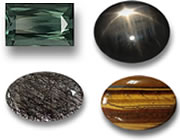 Gems for Men: Tourmaline, Star Sapphire, Rutile Quartz & Tiger's Eye