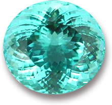 Oval Paraiba Tourmaline Gem