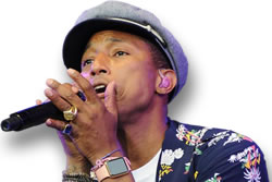 Pharrell's Gemstone Rings and Bracelets