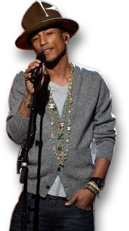 Pharrell Showing his Gemstone Chains
