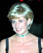 Princess Diana Wearing an Emerald Choker