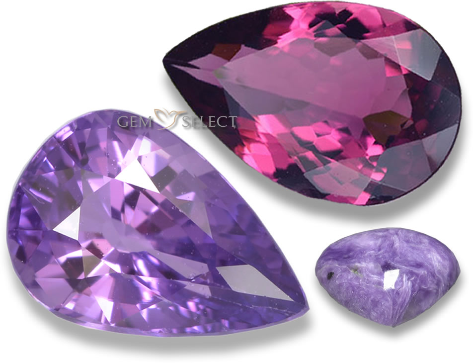 Purple and Violet Gemstones from GemSelect - Large Image