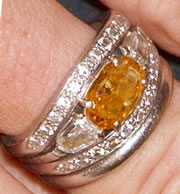 Queen Maxima's Orange Diamond Ring