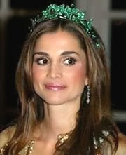 Queen Rania Wearing a Boucheron Emerald Tiara