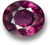 Raspberry Red Rhodolite Garnet Gem