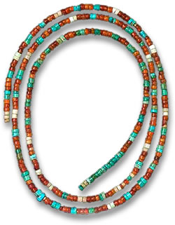 Scythian Beaded Necklace with Amber & Turquoise