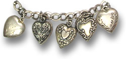 "Silver ""Sweetheart"" Charms"