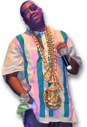 Slick Rick, Showing off His Jewelry