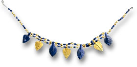Sumerian Lapis Lazuli and Gold Beaded Necklace