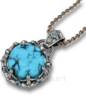 Turquoise Necklace Pendant