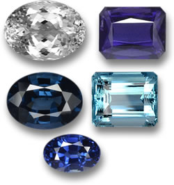 Untreated Topaz, Iolite, Spinel, Aquamarine and Sapphire Gems