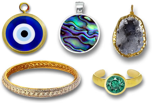 Various Colorful Styles of Gemstone Jewelry