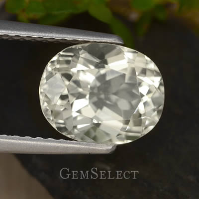 Almost Colorless Faceted Scapolite Gemstone